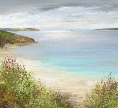 Modern Artist Amanda HOSKIN - Tranquil Colours at Daymer Beach