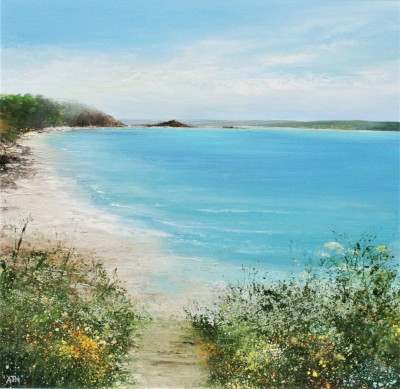 Modern Artist Amanda HOSKIN - Summer Path Down to the Beach, Tresco