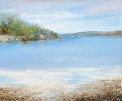 The Gentle Movement of the Sea is Mesmerizing, Salcombe painting by artist Amanda HOSKIN