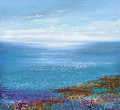 Modern Artist Amanda HOSKIN - Atlantic Light, Cornwall