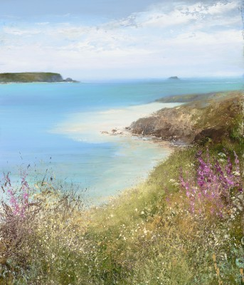 Modern Artist Amanda HOSKIN - Summer Flowers at Rock, Daymer Bay