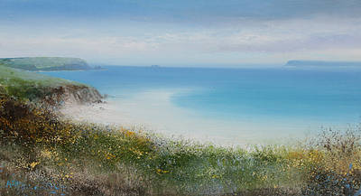 Modern Artist Amanda HOSKIN - Early Spring Day at Harbour Cove, Padstow