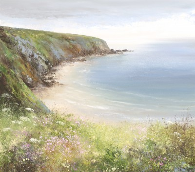 Modern Artist Amanda HOSKIN - Beautiful Day, Walking the Coastal Path to Fowey
