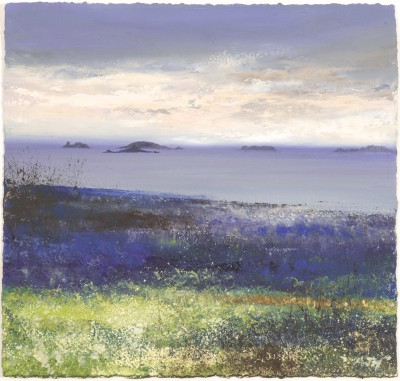 Modern Artist Amanda HOSKIN - Morning Sky over the Islands, Tresco