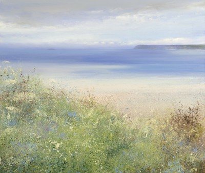 Modern Artist Amanda HOSKIN - Blue Bells in May at Padstow