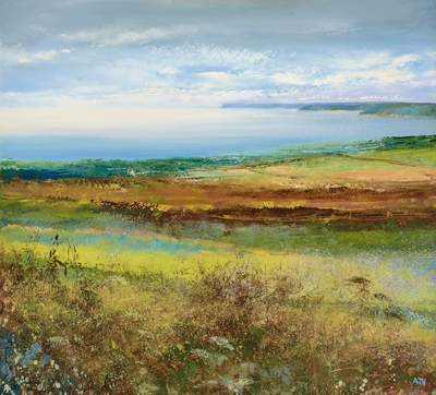 Late Afternoon Walk near Fowey painting by artist Amanda HOSKIN