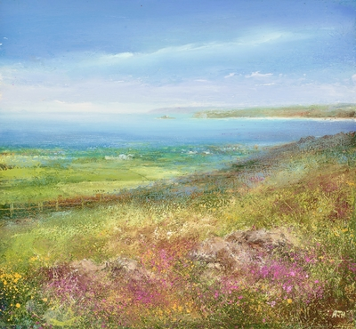 Amanda HOSKIN - Heather and Gorse on Bells Hill, Zennor