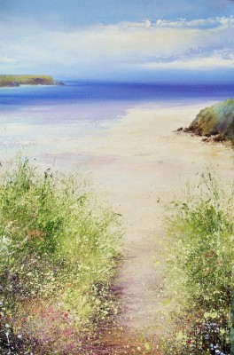 Amanda HOSKIN - Blue and Turquoise Hue, Daymer Bay Padstow