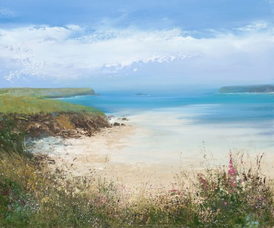 Amanda HOSKIN, contemporary artist&nbsp;-&nbsp;<span style='color:red;font-size: 200%'>&#8226;</span> Summer's Day, Padstow