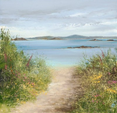 Amanda HOSKIN, contemporary artist&nbsp;-&nbsp;<span style='color:red;font-size: 200%'>&#8226;</span> Summer Path Tresco, Isles of Scilly