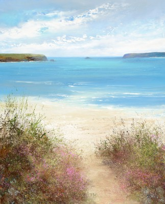 Modern Artist Amanda HOSKIN - Path Down to the Beach, Daymer Bay