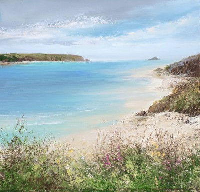 Modern Artist Amanda HOSKIN - Beautiful Day at Daymer Bay, Padstow