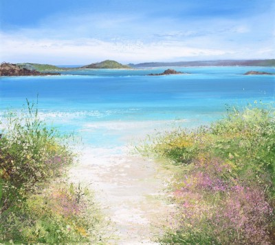Modern Artist Amanda HOSKIN - Path to the Beach, Old Grimsby, Tresco