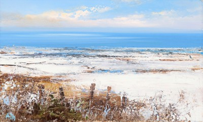 Modern Artist Amanda HOSKIN -  Fields of Snow Zennor, Cornwall