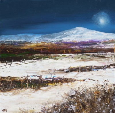 Modern Artist Amanda HOSKIN - A Winter's Night, Fife