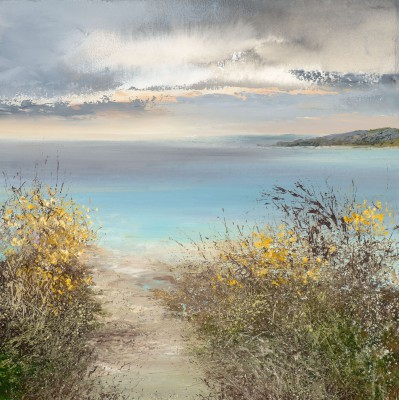 Modern Artist Amanda HOSKIN - Path Down to the Beach Daymer Bay