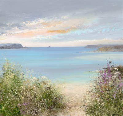 Modern Artist Amanda HOSKIN - Evening Sky over Daymer Bay