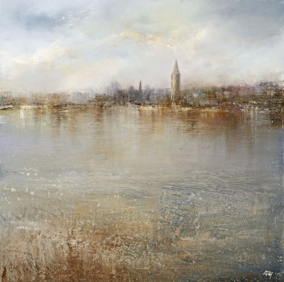Modern Artist Amanda HOSKIN - Tranquility on the River Thames