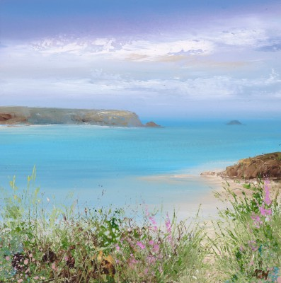 Modern Artist Amanda HOSKIN - Summer Flowers at Daymer