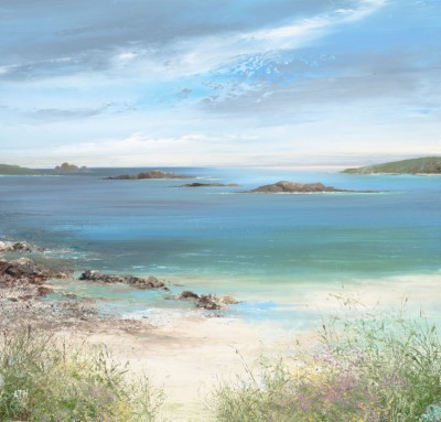 Modern Artist Amanda HOSKIN - Late Afternooon at Pentle Bay, Tresco