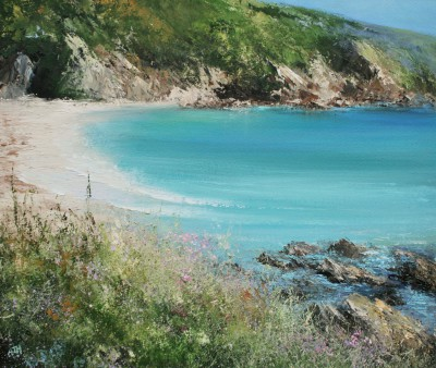 A Perfect Moment on a Summer's Day, Polridmout painting by artist Amanda HOSKIN