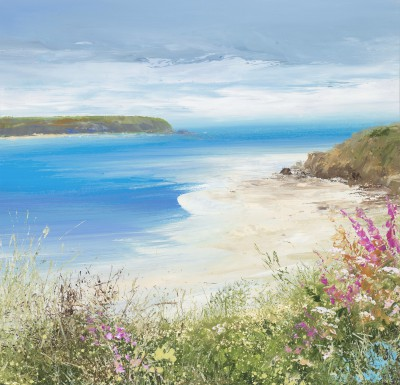 Modern Artist Amanda HOSKIN - A Perfect Summer's Day, Daymer Bay