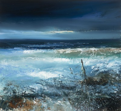 Amanda HOSKIN, contemporary artist - <span style='color:red;font-size: 200%'>•</span> Midnight Sea, Cornwall