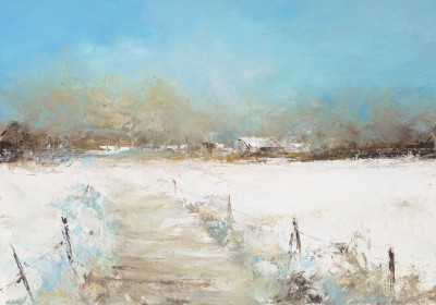 Amanda HOSKIN, contemporary artist - <span style='color:red;font-size: 200%'>•</span> Winter On the Farm