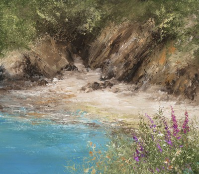 Modern Artist Amanda HOSKIN - A Quiet Cove on the Way to Little Dartmouth