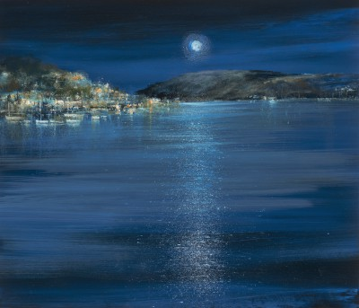 Amanda HOSKIN, contemporary artist - <span style='color:red;font-size: 200%'>•</span> Midnight Moon, River Dart