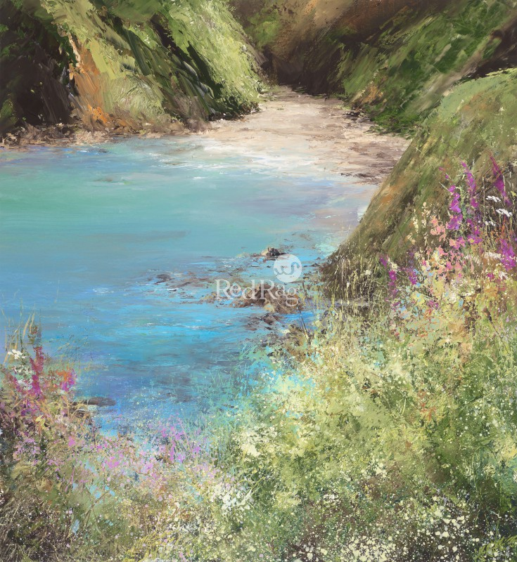 Amanda HOSKIN - A Moment to Sit and Rest a While, on the Coastal Path to Little Dartmouth