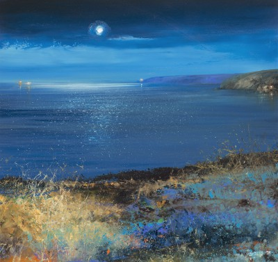 Modern Artist Amanda HOSKIN - Moonlight over Start Point