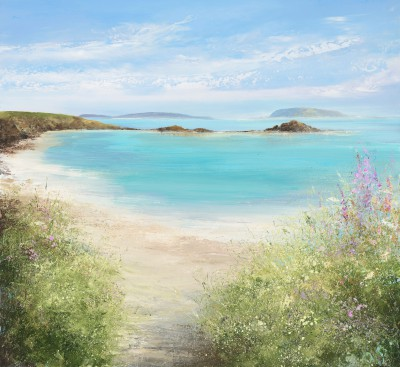 Amanda HOSKIN, contemporary artist - Summer Flowers on Tresco, Isles of Scilly