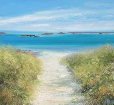 Modern Artist Amanda HOSKIN - Path Down to the Beach, Old Grimsby, Tresco