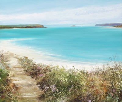 Amanda HOSKIN, contemporary artist - Turquoise Sea at Daymer Bay