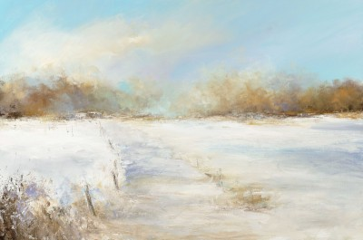 Amanda HOSKIN - Golden Light Upon the Snow, Bodmin Moor