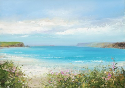 Amanda HOSKIN, contemporary artist - Turquoise Seas, Daymer Bay