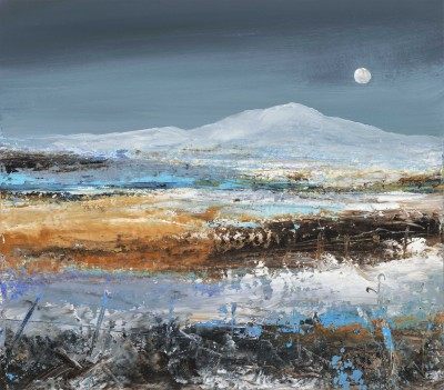 Modern Artist Amanda HOSKIN - Frosty Winter Light, Fife