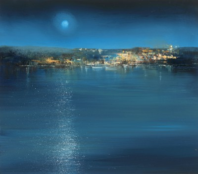 Amanda HOSKIN - A Prussian Blue Night, Fowey
