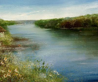 Modern Artist Amanda HOSKIN - Summer Days, Mylor Bridge