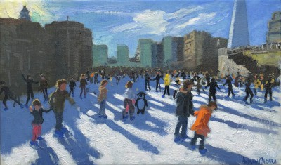 'Christmas, Tower of London, Ice Rink' painting