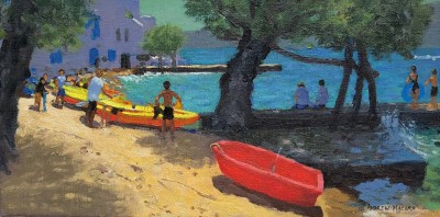 'Red Boat, Milas' painting