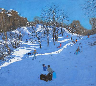 Modern Art from artist - Andrew MACARA  - Sledgers at Black Rocks, Wirksworth