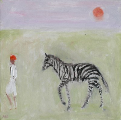Ann SHRAGER - Zebra, Boy and Sky