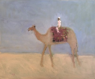 Camel painting by artist Ann SHRAGER