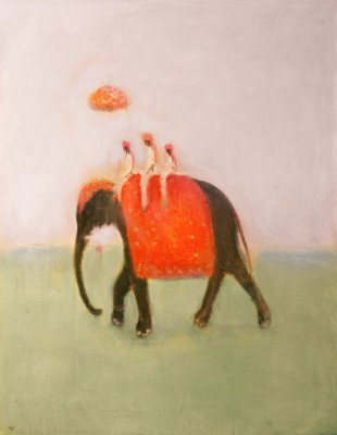 Ann SHRAGER - Elephant and Three Mahouts