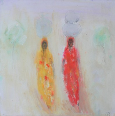 Ladies Carrying Water painting by artist Ann SHRAGER