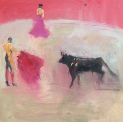 Modern Artist Ann SHRAGER - The Bull Fight