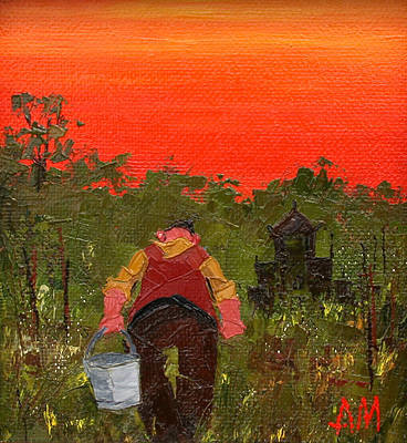 Modern Artist Austin MOSELEY - Allotment Sunset
