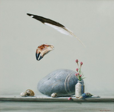 Bryan HANLON, contemporary artist - Daymer Bay and Rock Pipit
